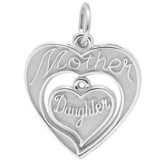 Mother and Daughter Charm $37.50 http://www.charmnjewelry.com/sterling-silver-charms.htm #CharmnJewelry