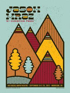 Jason Mraz concert poster. #gigposters #musicart #concerts http://www.pinterest.com/TheHitman14/music-poster-art-%2B/