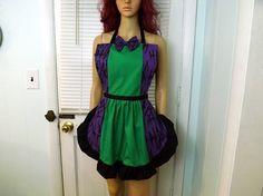 HaHaHa Apron Cosplay Costume Purple Green