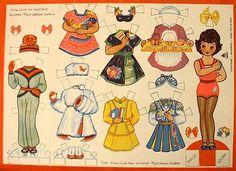 The Paper Dolls of Laura: Muñecas recortables de los 50