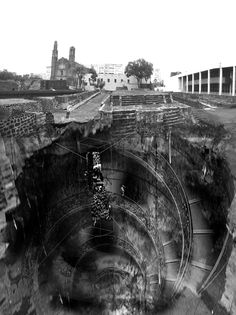 Sinking 'Soundscapes' in Tlatelolco Mexico, Proposal of a sinking museum, Unit 14, Bartlett School of Architecture