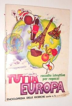TUTTA-EUROPA-1977-Fol-Bo-Italy-sticker-book-full-album-figurine-completo Sticker Books, Gadget, Italy, Album, Stickers, Italia, Sticker, Decal