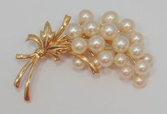 MIKIMOTO VINTAGE 14K YELLOW GOLD PEARL PIN BROOCH 7MM NO RESERVE #Mikimoto