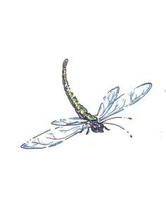 White Dragonfly Tattoo