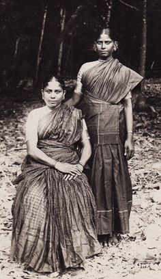 Two Tamil Ladies exhibit   Sarees from South India