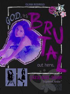 olivia rodrigo 'brutal' SOUR poster