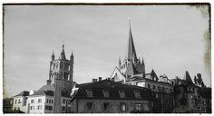 Lausanne Svizzera la cattedrale
