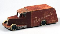 Renbode (klein) | Collectie Gelderland Antique Toys, Vintage Toys, Wooden Toy Trucks, Electronics Projects, Wood Toys, Jouer, Diy Toys, Diy Craft Projects, Wood Carving