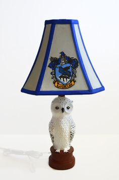 """Or yet in wise old Ravenclaw, if you've a ready mind, Where those of wit and learning, Will always find their kind.""  Harry Potter Lamp - Ravenclaw by NerdFreakinTastic on Etsy (other houses and designs available)"