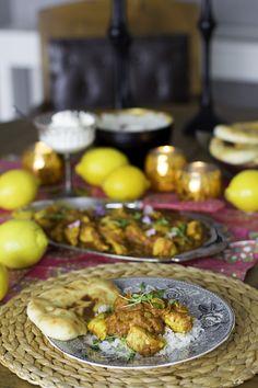 Kardemummainen broilericurry - Sweet Food O´Mine Garam Masala, Naan, Chutney, Sweet Recipes, Mango, Chicken Curry, Curries, Dinner, Manga