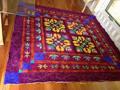 Image result for machine embroidered quilt