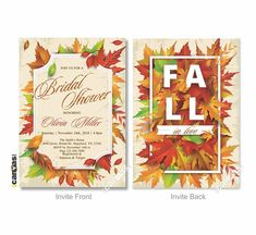 Fall in Love Bridal Shower Invitation, Engagement Party Holiday Dinner Rustic Wedding Shower Digital Printable or Printed + FREE SHIPPING 17 Engagement Party Invitations, Bridal Shower Invitations, Fall In Love Bridal Shower, Rustic Wedding Showers, Holiday Dinner, Falling In Love, Printables, Free Shipping, Printed