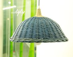 mini wholesale colored wicker lamp shades for home decoration