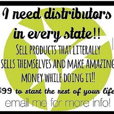 Make extra money. Distributors Wanted!! $99 to start your own business.