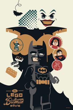 Lego Batman poster by Kevin Tiernan #GaneschaBotTest