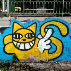 Monsieur Chat - street art paris 10 - canal st martin aout 2015