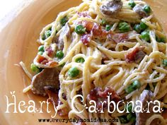 amazingly delicious Hearty Carbonara recipe!!! Soooo good!