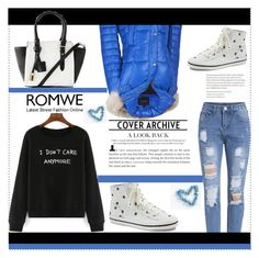 """""""Romwe-Sweatshirt-contest"""" by sabina-94-cxx ❤ liked on Polyvore featuring Andrew Marc, Isaac Mizrahi and romwe"""