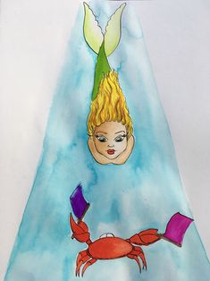#mermay #approach #watercolor #art #artist #illustration #kinderzimmer Watercolor Art, Disney Characters, Fictional Characters, Aurora Sleeping Beauty, Disney Princess, Illustration, Artist, Young Women, Child Room