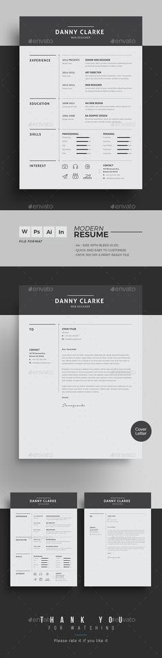Templates For Resumes Word Adorable Pinaanygraphic On Cvresumesportfolio  Pinterest  Cv Ideas .
