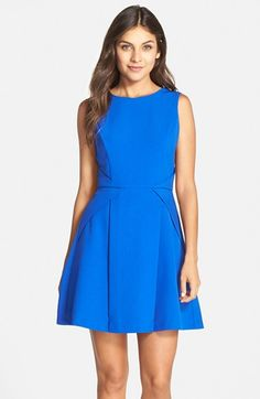 Adelyn Rae Crepe Fit & Flare Dress available at #Nordstrom