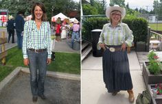 Top marks for Alberta Opposition leader's Cowgirl Stampede style. #stampede #calgarystampede #cowgirl #cowgirlfashion #alberta #daniellesmith #elizabethmay #style #fashion