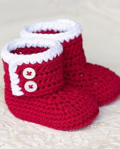 Santa Baby Ankle Booties - Crochet Pattern                                                                                                                                                                                 More