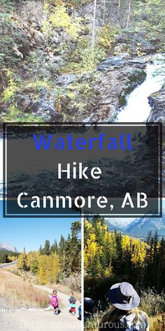 A beautiful hike that is easy and leads to a beautiful waterfall RIGHT IN CANMORE! I did not believe it when my friend from Off Road Discovery blog led me down the trail with our 4 kids in tow. But it happened, and she led me along the path with beautiful mountain views and stunning… Family Adventure, Adventure Travel, Adventure Time, Places To Travel, Places To Go, Time Travel, Alberta Travel, Banff Alberta, Canadian Travel