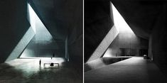 Blade runner 2049: The hall of Wallace's office was a design for the unbuilt Neanderthal Museum in Piloña, Spain by Estudio Barozzi Veiga. Concept Artist for Bladerunner 2049, Peter Popken, had permission from the architectural firm to use a version of this image in the film. Images by courtesy of Warner Bros Pictures and Estudio Barozzi Veiga