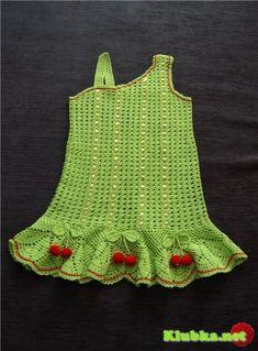 Vestido de ganchillo para las niñas