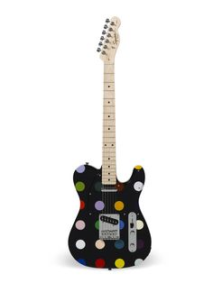 Unique Damien Hirst designed guitars available to win in aid of Strummerville - Damien Hirst