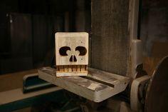 reclaimed wood skull box - Love!
