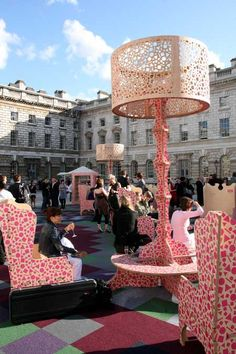 The London Festival of Architecture: London's Largest Living Room - The furniture is designed by Studio Weave with a pattern by Eley Kishimoto. Creative direction is by Gerrard O'Carroll