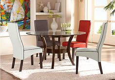 Delacourt Merlot 5 Pc Dining Set w  Galena White Chairs. $599.99.  Find affordable Dining Room Sets for your home that will complement the rest of your furniture.