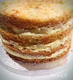 Τούρτα αμυγδάλου Vanilla Cream, Vanilla Cake, Greek Recipes, Greek Meals, Almond Cakes, Dessert Recipes, Desserts, Tiramisu, Dairy Free