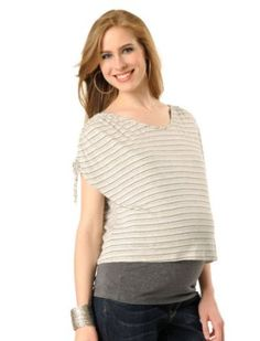 A Pea in the Pod: Short Sleeve Crew Neck Striped Maternity T Shirt A Pea in the Pod. $29.99