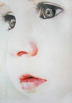 portrait à l'aquarelle de Pony, ses yeux son trop beaux.