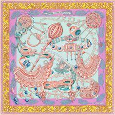 140 x 140 cm shawl Hermès   Zénobie, Reine de Palmyre