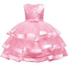 Summer children's Embroidery Princess dress Child girl fringe wedding dress fluffy dress Party host mermaid dress 3-12yrs