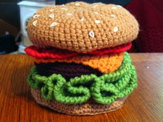 How to Crochet a Cheezburger: Part 1 | Knits With Carrots: A Vegetarian Knitting Blog
