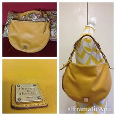 """Dooney & Bourke Luna Handbag Dooney & Bourke Luna Bag Measures approx 14"""" x 10"""" not expanded. Has 1 inside zip pocket.  Cell phone pocket.  Inside key hook.  Bottom zipper expands width of bag to 3.75"""".  Adjustable strap. Strap drop length: 8"""".  Dooney & Bourke Calf Gently used in good condition with light signs of wear on interior some tiny on exterior not really noticeable please see photos. Dooney & Bourke Bags"""