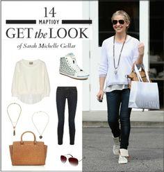 Get the look: Το casual chic look της Sarah Michelle Gellar