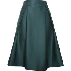Relaxfeel Women's Green Pleated A Style Skirt ($22) ❤ liked on Polyvore featuring skirts, green, knee length pleated skirt, satin pleated skirt, green pleated skirt, blue skirt and wet look skirt