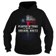 I Love 015-PLANTED IN TEXAS WITH INDIANA ROOTS T shirts