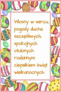 Wielkanoc 🐥🐥🐥🐥🐥🐥🐥🐥 Billie Eilish, Diy And Crafts, Seasons, Cool Stuff, Health, Fitness, Easter Activities, Health Care, Seasons Of The Year