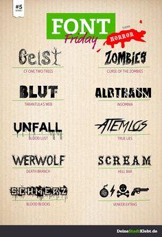 Font-Friday #5 - Horror