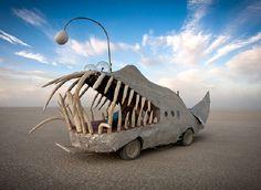 Anglerfish art car at Burning Man: http://elitedaily.com/elite/slideshows/auto-art-burning-man/#