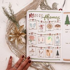 Monthly Bullet Journal Layout, Bullet Journal Contents, Bullet Journal Set Up, Bullet Journal Themes, Bullet Journal Inspiration, Bullet Journals, Calendar Stickers, Classy Christmas, Printable Planner