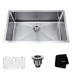 Kraus�Handmade 16-Gauge Single-Basin Undermount Stainless Steel Kitchen Sink