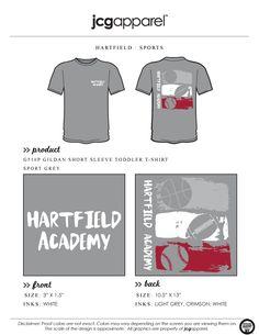 JCG Apparel : Custom Printed Apparel : Hartfield Academy Sports T-Shirt #hartfieldacademy #sport